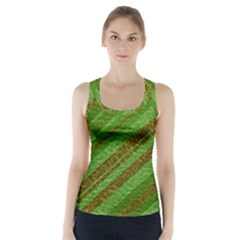 Stripes Course Texture Background Racer Back Sports Top