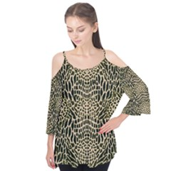 Brown Reptile Flutter Cotton Tees