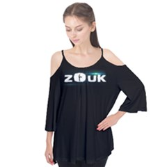 Zouk Dance Flutter Sleeve Cotton Tee