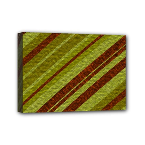 Stripes Course Texture Background Mini Canvas 7  x 5