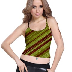 Stripes Course Texture Background Spaghetti Strap Bra Top