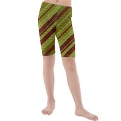 Stripes Course Texture Background Kids  Mid Length Swim Shorts