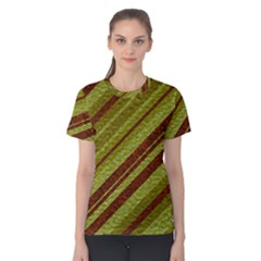 Stripes Course Texture Background Women s Cotton Tee