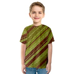 Stripes Course Texture Background Kids  Sport Mesh Tee