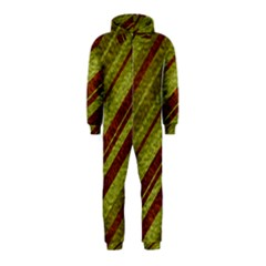 Stripes Course Texture Background Hooded Jumpsuit (Kids)
