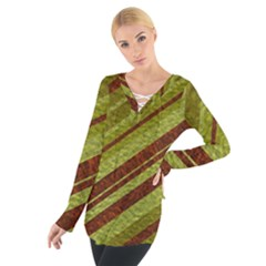 Stripes Course Texture Background Women s Tie Up Tee
