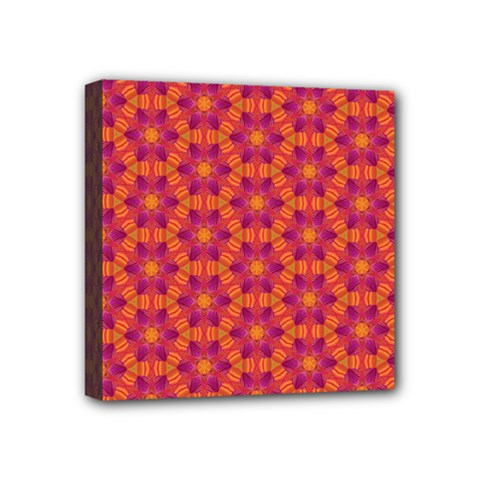 Pattern Abstract Floral Bright Mini Canvas 4  x 4