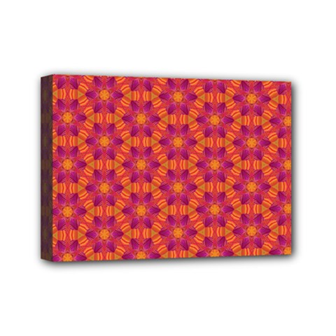 Pattern Abstract Floral Bright Mini Canvas 7  X 5