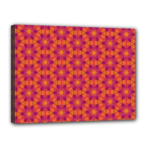 Pattern Abstract Floral Bright Canvas 16  x 12