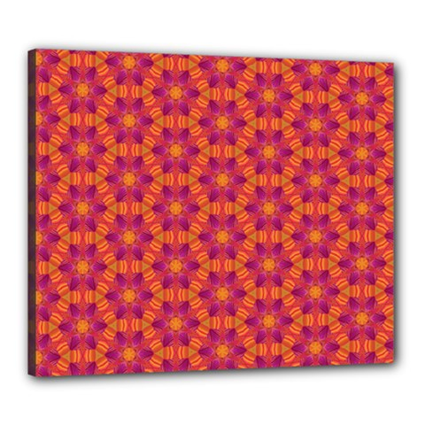 Pattern Abstract Floral Bright Canvas 24  X 20