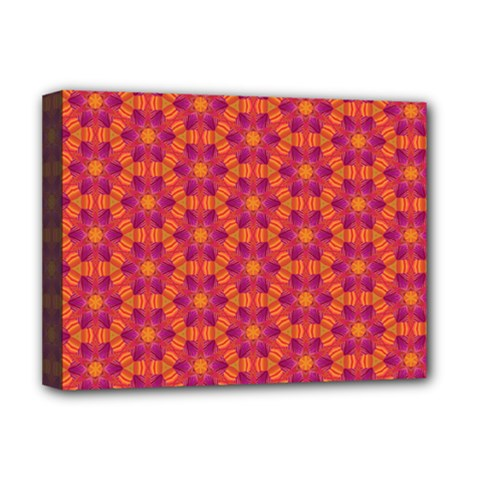 Pattern Abstract Floral Bright Deluxe Canvas 16  x 12