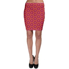 Pattern Abstract Floral Bright Bodycon Skirt