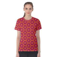 Pattern Abstract Floral Bright Women s Cotton Tee