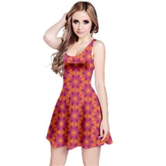 Pattern Abstract Floral Bright Reversible Sleeveless Dress