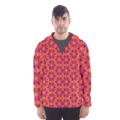 Pattern Abstract Floral Bright Hooded Wind Breaker (Men)