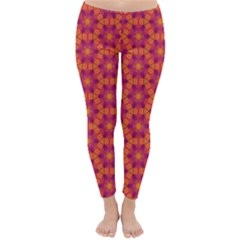 Pattern Abstract Floral Bright Classic Winter Leggings