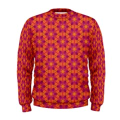 Pattern Abstract Floral Bright Men s Sweatshirt
