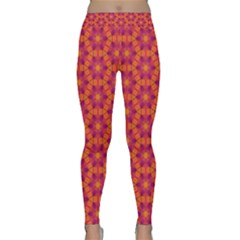Pattern Abstract Floral Bright Classic Yoga Leggings