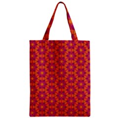 Pattern Abstract Floral Bright Zipper Classic Tote Bag