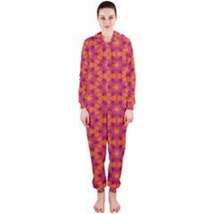 Pattern Abstract Floral Bright Hooded Jumpsuit (Ladies)