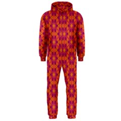 Pattern Abstract Floral Bright Hooded Jumpsuit (men)