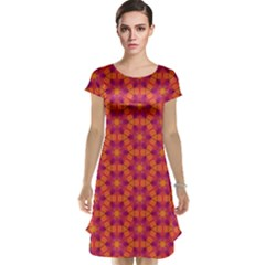 Pattern Abstract Floral Bright Cap Sleeve Nightdress
