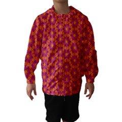 Pattern Abstract Floral Bright Hooded Wind Breaker (Kids)