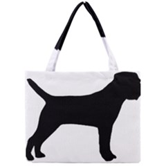 Border Terrier Silhouette Mini Tote Bag