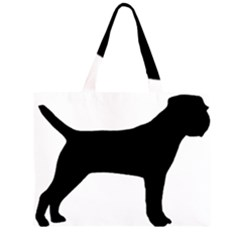 Border Terrier Silhouette Large Tote Bag