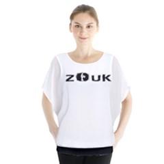 Zouk Dance Batwing Chiffon Blouse