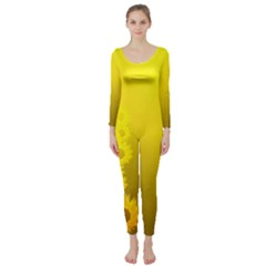 Sunflower Long Sleeve Catsuit
