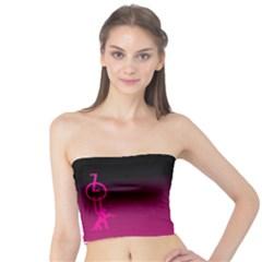Zouk Pink/purple Women s Tube Tops
