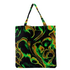 Glowing Fractal A Grocery Tote Bag