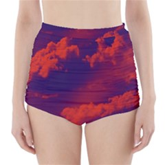 Sky pattern High-Waisted Bikini Bottoms