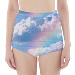 Sky pattern High-Waisted Bikini Bottoms