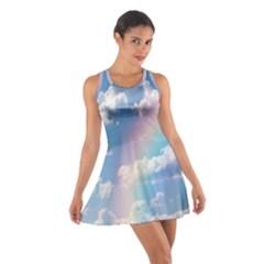 Sky pattern Cotton Racerback Dress