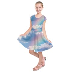 Sky pattern Kids  Short Sleeve Dress