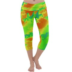 Sky pattern Capri Yoga Leggings