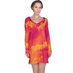 Sky pattern Long Sleeve Nightdress