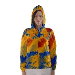 Sky pattern Hooded Wind Breaker (Women)