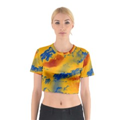 Sky pattern Cotton Crop Top