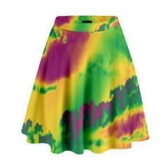 Sky pattern High Waist Skirt