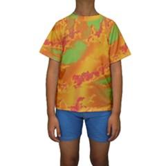 Sky pattern Kids  Short Sleeve Swimwear