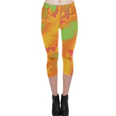 Sky pattern Capri Leggings