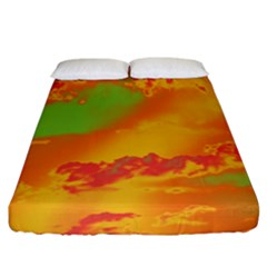 Sky pattern Fitted Sheet (King Size)