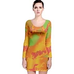 Sky pattern Long Sleeve Velvet Bodycon Dress