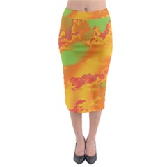 Sky pattern Midi Pencil Skirt