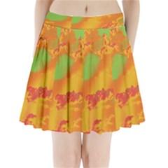 Sky pattern Pleated Mini Skirt
