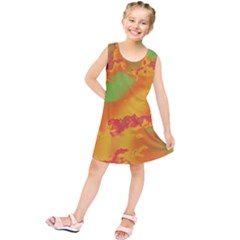 Sky pattern Kids  Tunic Dress