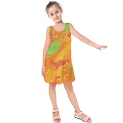Sky pattern Kids  Sleeveless Dress